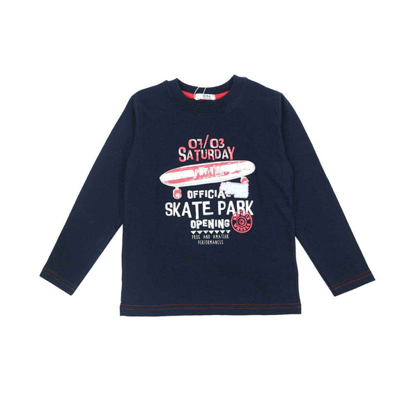 Dr. Kid Boys Navy Blue Cotton T-shirt