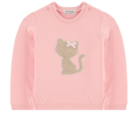 Mayoral Baby Girl Embroidered Pink Sweatshirt