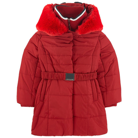 Monnalisa Girls Red Padded Coat