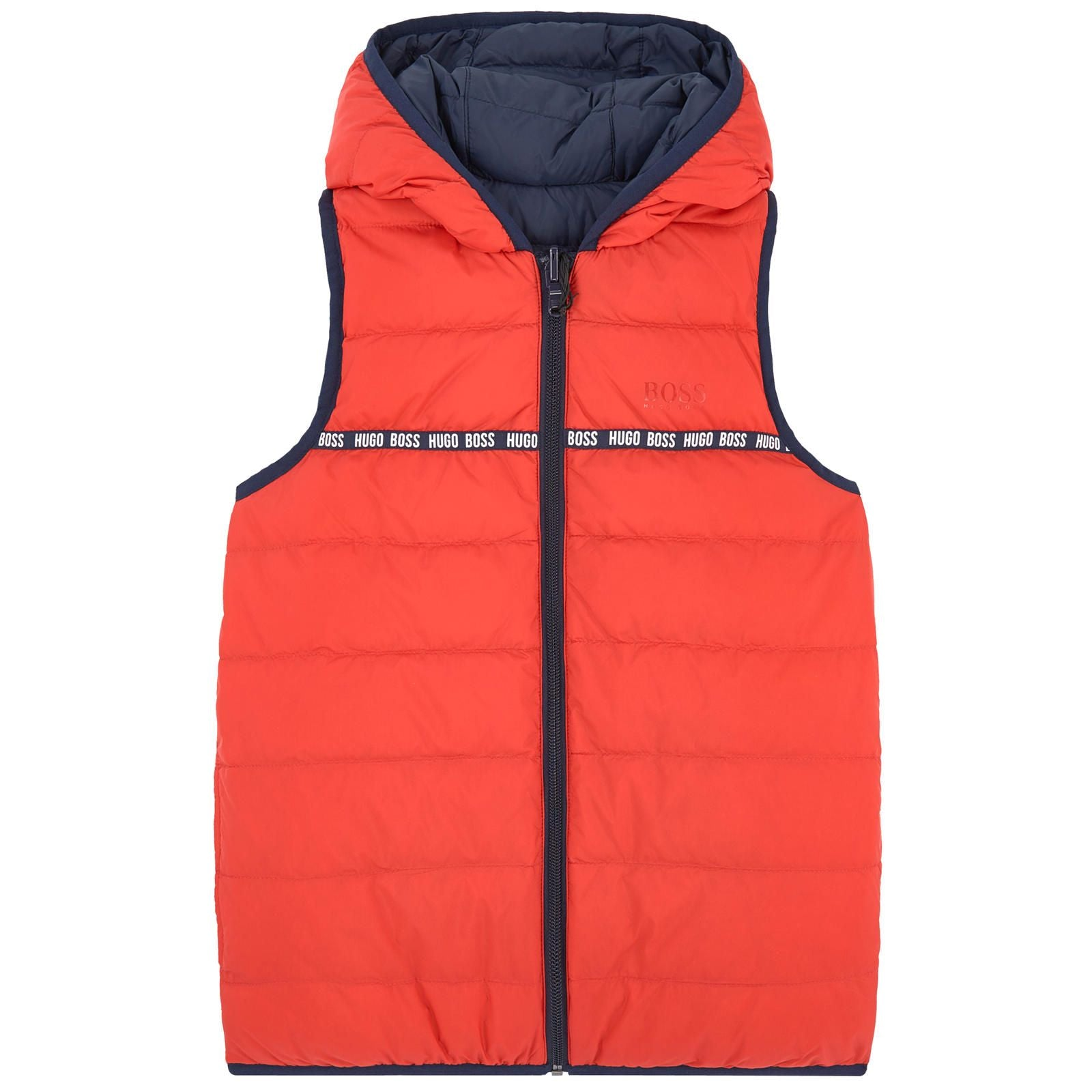 BOSS Boys Reversible Down Padded Gilet