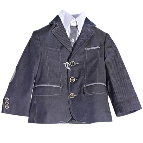 Gattimatti Dark Blue/White Boy Suit Dark Blue/White