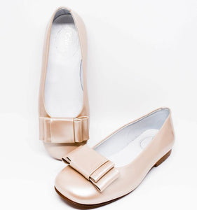 Gux's Girl Tan Ballerina Shoes with Bow