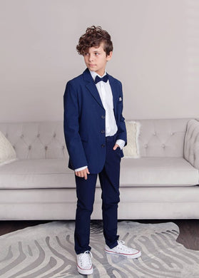 Gattimatti Boy Navy Blue 4 pcs Suit Navy Blue