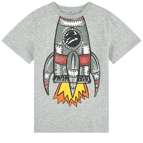 Stella McCartney Kids Boys Space Shuttle Cotton T-Shirt