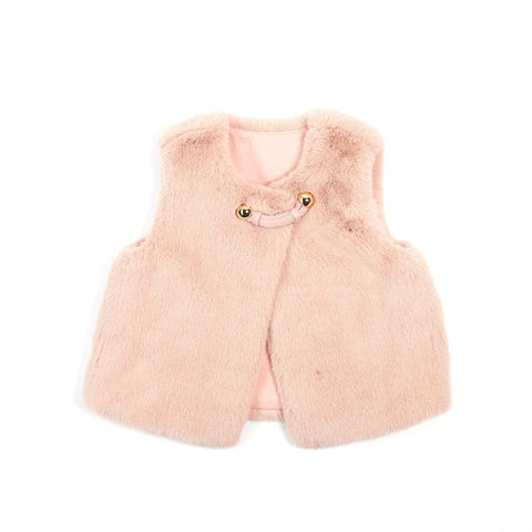 Doe A Dear Girls Faux Fur Vest