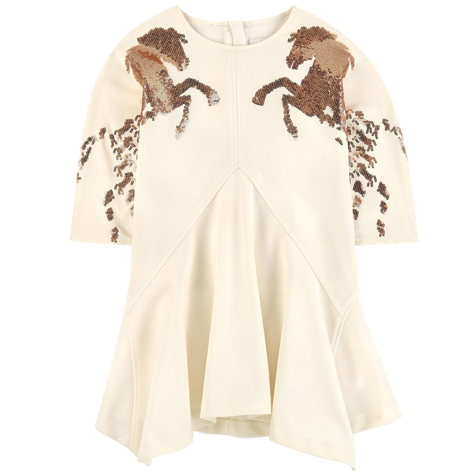 Chloe Mini Me Ivory Couture Crêpe Dress