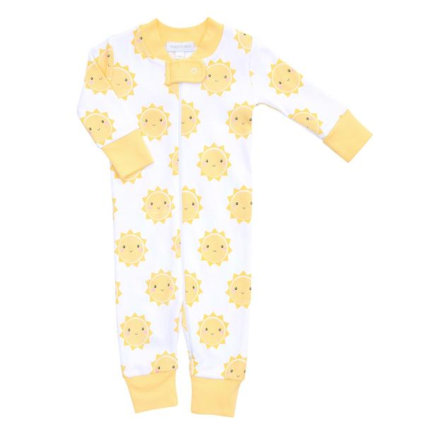 Magnolia Baby Yellow Sunshine Zipped Pajamas