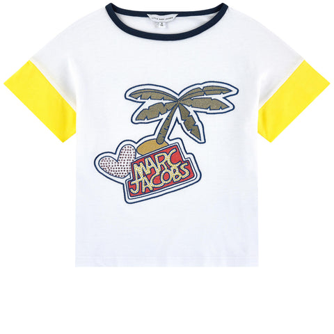 Little Marc Jacobs Girls Palm Tree T-Shirt