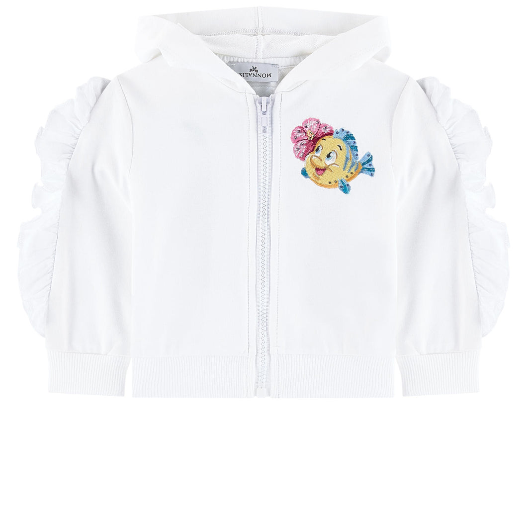 Monnalisa Embroidered Sweatshirt - The Little Mermaid