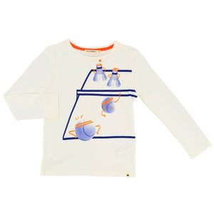Billybandit Boys White Cotton Jersey Top