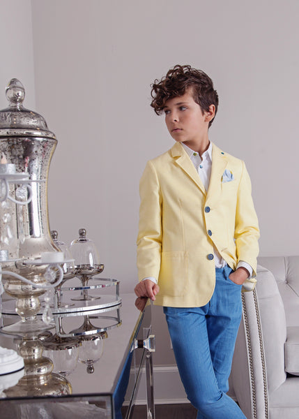 Gattimatti Boy 3pc Yellow/Blue Suit