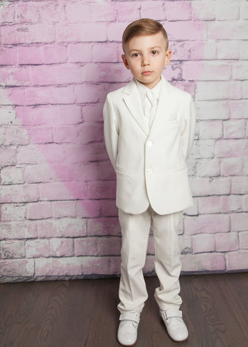 Bimbalo Boy Tuxedo for Formal Occasion White