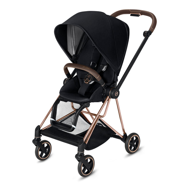 Cybex Mios Complete  Stroller Plus Bassinet, Black - Rose Gold