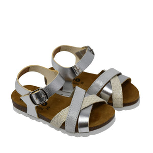 Geppetto's Girls Silver Metallic Sandals