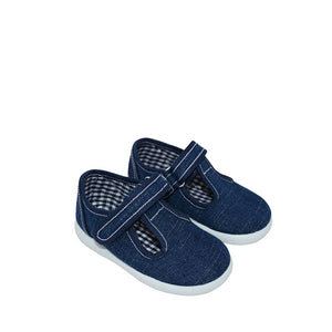 Geppetto's Toddler Dark Denim Canvas Shoes