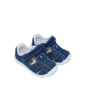 Geppetto's Boys Dark Denim Canvas Sandals