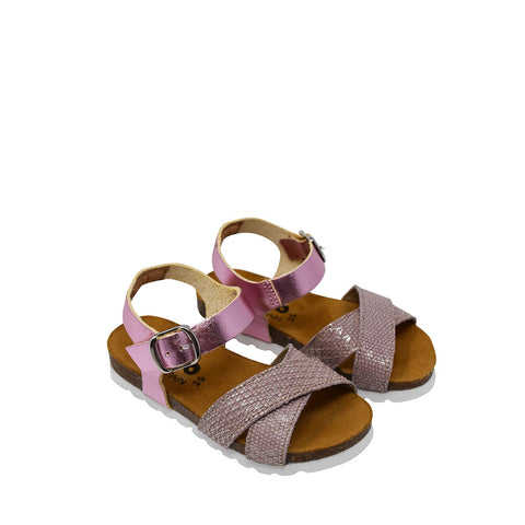 Geppetto's Girls Pink Metallic Sandals