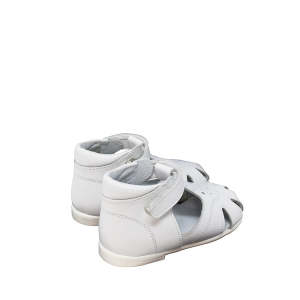 Geppetto's White Leather Unisex Sandals