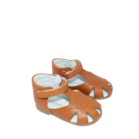 Geppetto's Brown Leather Unisex Sandals