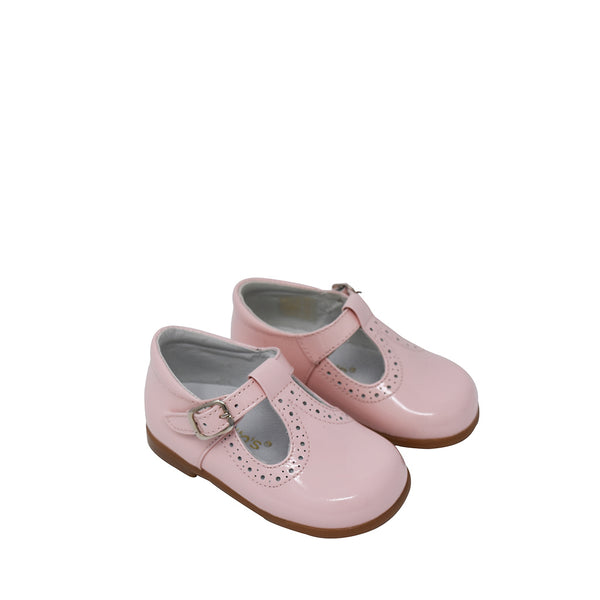 Geppettos Toddler Mary Jane Leather T-Strap