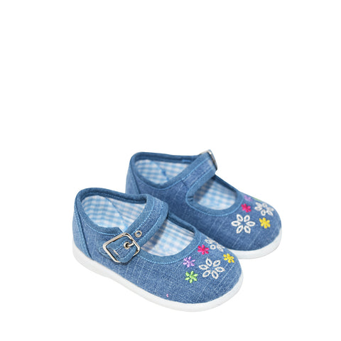 Geppetto's Toddler Girl Light Denim Canvas Shoes