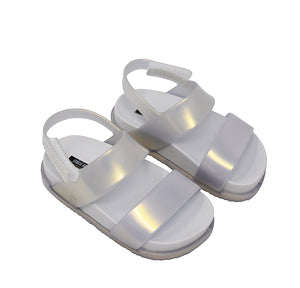 Mini Melissa Clear Double Strap Jelly Sandals