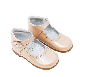 Geppetto's Toddler Girl Nude Patent Leather Mary Jane