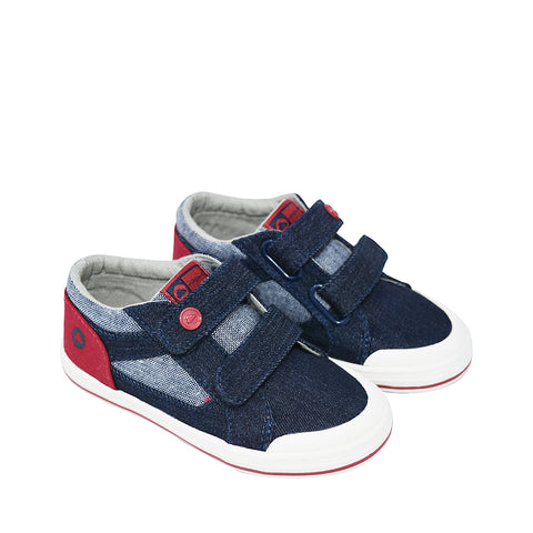Mayoral Boys Denim Canvas Trainers