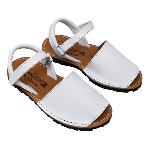 Geppetto's Girl White Leather Sandals