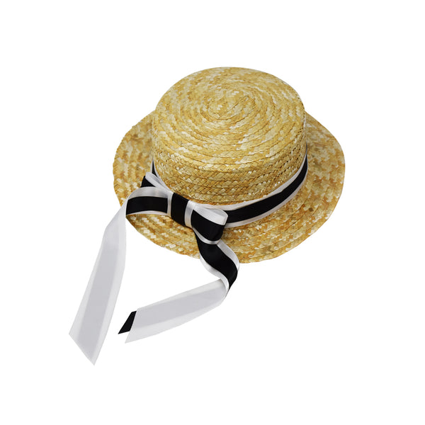 Baby Bella Girls Straw Boater Hat