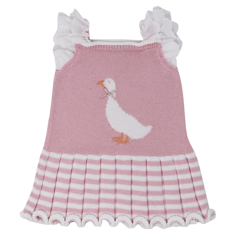 Carmen Taberner Girls Pink Knit Duck Dress