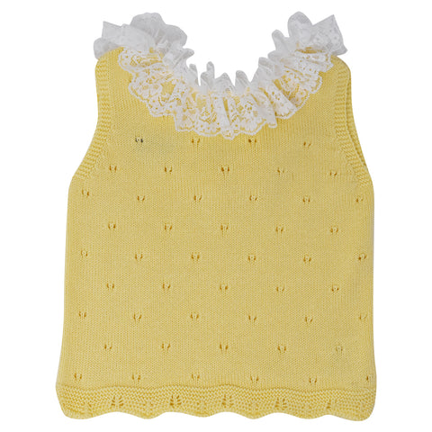 Carmen Taberner Girls Yellow Knit 2-Piece