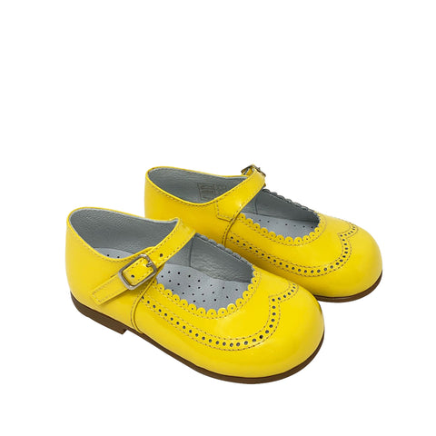 Geppetto's Canary Yellow Toddler Mary Janes