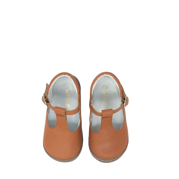 Geppetto's Camel T-Strap Mary Janes