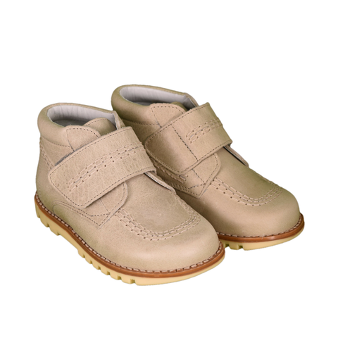 Geppetto's Velcro-Strap Stone Grey Shoes