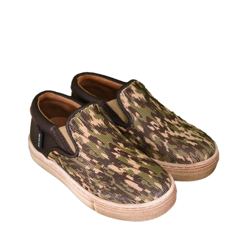 Atlanta Mocassin Camouflage Slip On Boy Shoes