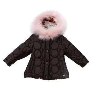 Piccola Speranza Parka With Pink Fur Hood