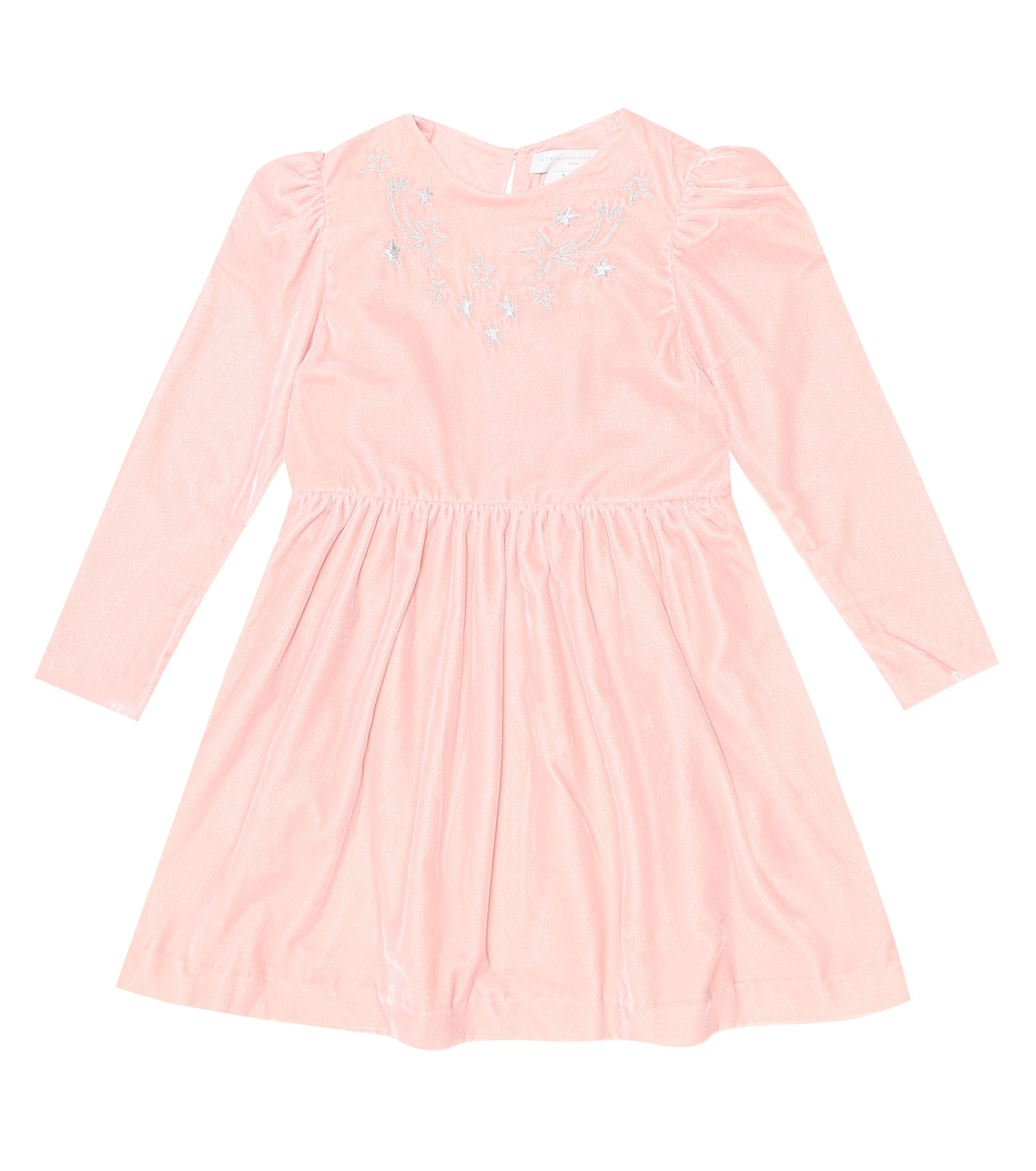 Stella McCartney Kids Girls Velour Embroidered Starts Dress