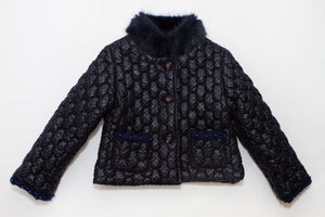 Piccola Speranza Girls Navy Blue Padded Coat