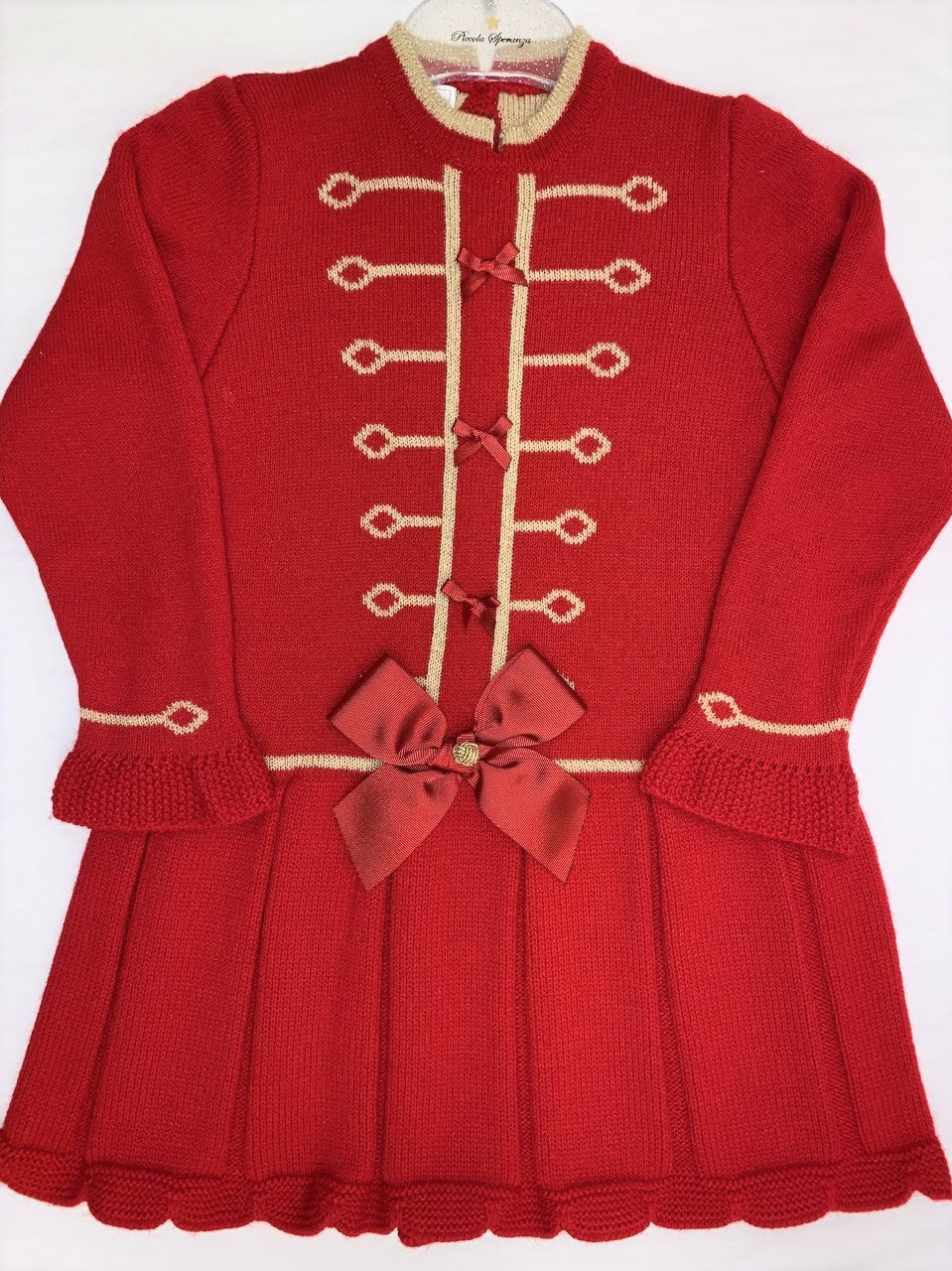 Carmen Taberner Girls Red Royal Wool Dress