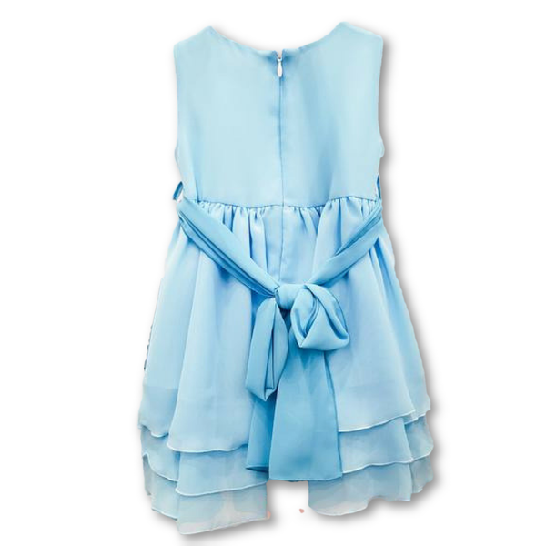 Bimbalo Girls Sky Blue Layered Dress