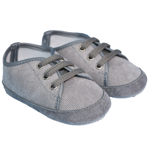Bimbalo Baby Boy Corduroy Shoes Grey
