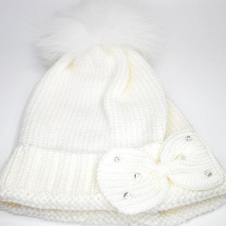 Bimbalo Hat with Real Fur Cream