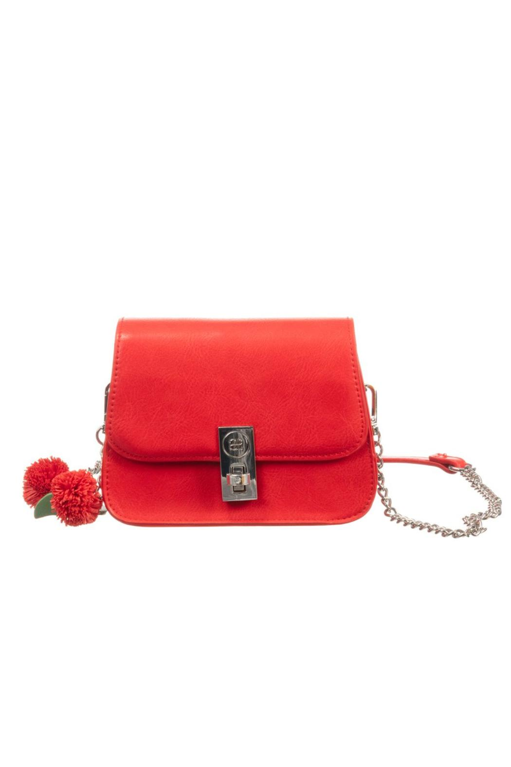 Abel and Lula Red Flower Leatherette Bag