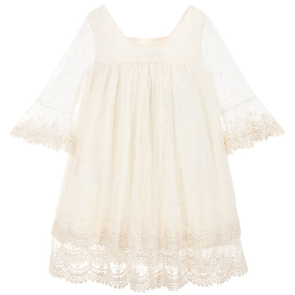 Abel & Lula Girls Ivory Lace Dress