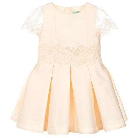 Abel & Lula Girls Satin Lace Dress