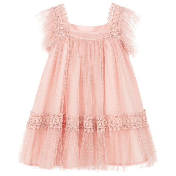 Abel & Lula Girls Pink Tulle Dress