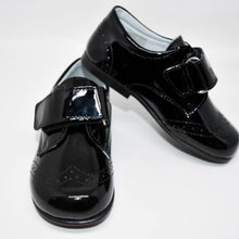 Geppetto's Boy Black Patent Leather Strap Shoes