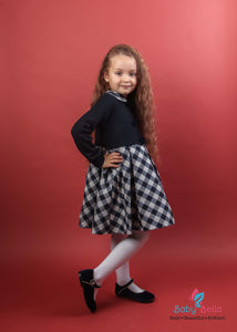 Bimbalo Long Sleeve Plaid Wool Dress
