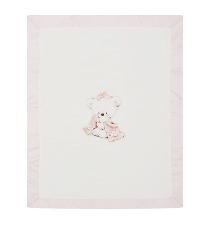 Bimbalo Girls Bear Motif Blanket - Velour